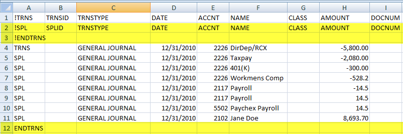 How We Imported Prior Year's Transactions of a Hotel In Excel Into QuickBooks