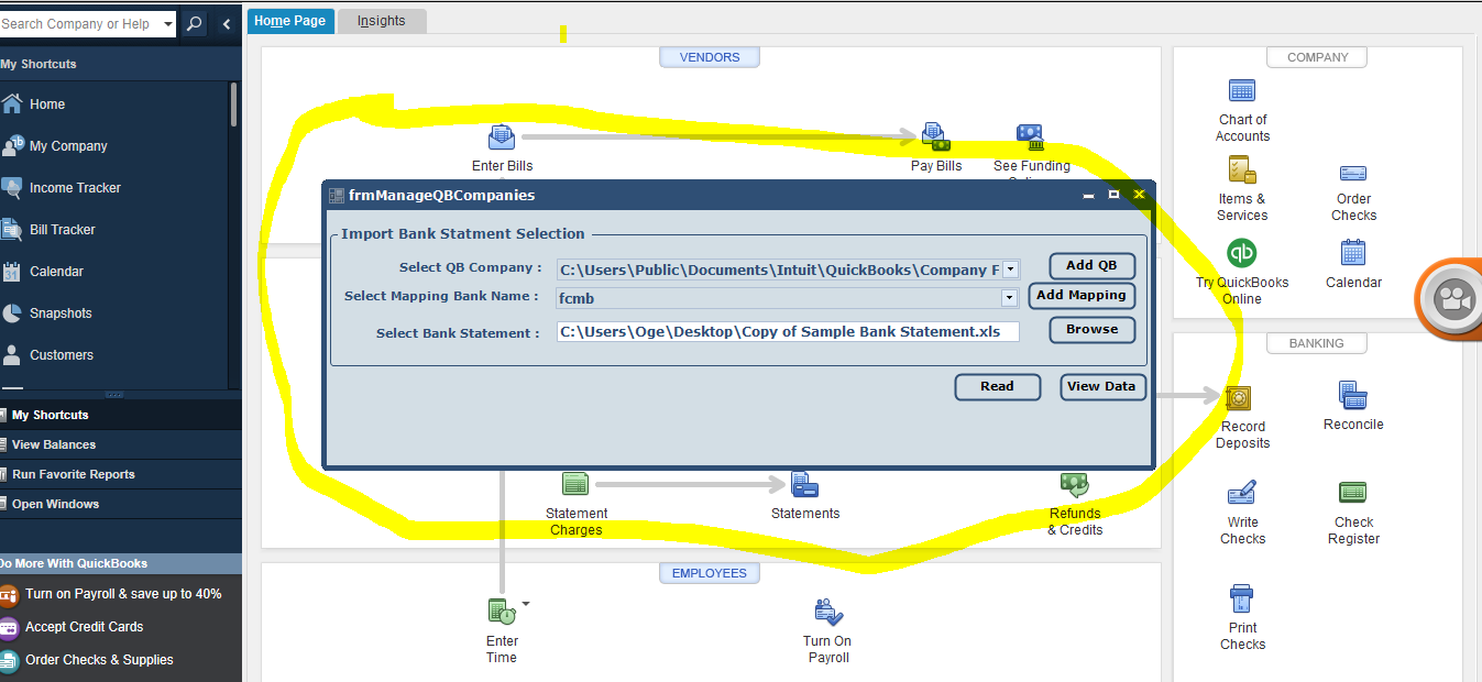 Import Bank Transactions Into QuickBooks Desktop